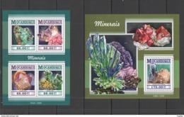 ST2263 2015 MOZAMBIQUE MINERALS NATURE GEOLOGY KB+BL MNH - Plants