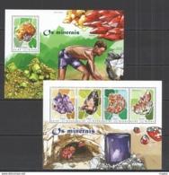 ST1126 2014 GUINEA-BISSAU NATURE GEOLOGY MINERALS KB+BL MNH STAMPS - Plants