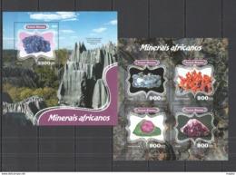 ST1081 2014 GUINEA-BISSAU GEOLOGY AFRICAN MINERALS KB+BL MNH STAMPS - Plants