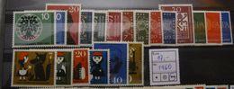 1960, Bund FRG, Kompletter Jahrgang, Full Year, ** MNH, Value 17,- - [7] République Fédérale