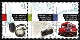 Australian Antarctic 2017 Cultural Heritage Set As Strip Of 3 CTO - Territorio Antártico Australiano (AAT)