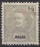 Macau Macao – 1898 King Carlos 1/2 Avo Mint Stamp - Macao
