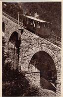 PASSO DELLA MENDOLA-TRENTO-LA FUNICOLARE-TRENO-CARTOLINA VERA FOTOGRAFIA - VEDERE TIMBRO AL RETRO-VIAGGIATA IL 31-8-1951 - Trento