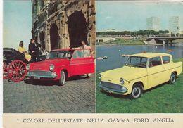 FORD =ANGLIA=AUTOMOBILE -AUTO-CAR-VOITURES-COCHE-AOSTA-ITALY-CARTOLINA VERA FOTOGRAFIA NON VIAGGIATA - Voitures De Tourisme