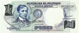 PHILIPPINES - 1 Piso - ND ( 1969 ) - Pick 142.b - Unc. - Sign. 8 - Serie NP - Seal Type II - Jose Rizal - Filipinas - Filipinas
