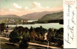 New York Adirondacks Mirror Lake And Lake Placid - Adirondack