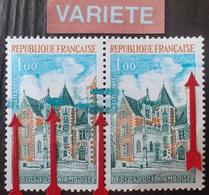R1337/128 - 1973 - FRANCE - LE CLOS LUCE A AMBOISE - N°1759 TIMBRES NEUFS** - VARIETE ➤➤➤ Grosses Taches Bleues - Variedades Y Curiosidades