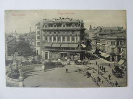 Rare! Bucuresti/Bucharest-Sărindar Square/le Marche/piața,Romanian Unused Postcard About 1900 - Rumänien