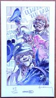 Etat Neuf > (XL) Ex-libris ESPACE BD Numéroté Et Signé Par HERMANN : Kurdy, Ten Gallons Et Barney - Illustrateurs G - I