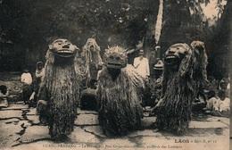 Laos - Luang-Prabang - La Danse Des Ancêtres Laotiens (Pou Gnien-Gnia-Gnieu) Carte Collection Raquez Non Circulée - Laos