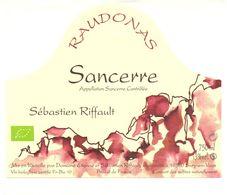 Etiket Etiquette - Vin - Wijn - Sancerre - Raudonas - Domaine Riffault à Sury En Vaux - Etiquettes