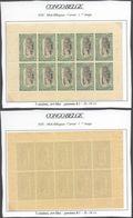 Congo Belge - Feuillet De 10 ** MNH : Carnet 1er Tirage Type N°64 A 5C Vert-bleu, Panneau-δ D 14 1/4 - Booklets