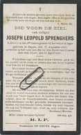 Joseph Sprenghers: Itegem 1887 - Molen Lizerne Aan Den Ijzer  Oorlog 14-18 : Soldaat 4° Linie Regiment   ( Zie Scans ) - Santini