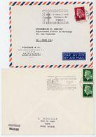 REUNION CFA LOT DE 2 ENV TIMBREES AVEC TIMBRE CFA MARIANNE CHEFFER - Réunion (1852-1975)