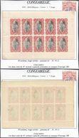 Congo Belge - Feuillet De 10 ** MNH : Carnet 1er Tirage Type N°65 A 10C Rouge-carmin, Panneau-α D 14 1/2 + Variété 2e TP - Booklets