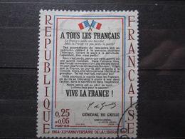 VEND BEAU TIMBRE DE FRANCE N° 1408a , PAPIER BLEUTE !!! - Variétés: 1960-69 Oblitérés