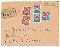 SENEGAL - Enveloppe - Courrier Reco. Affranchi Timbres Officiels -  Dakar RP / Hopital Principal De Dakar 1966 - Senegal (1960-...)