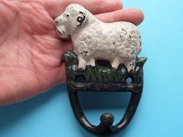 SCHAAP / SHEEP / MOUTON Kapstokhaak ** R A R E ** CAST IRON FONTE GIETIJZER ( +/- 292 Gr. ) - Autres Collections
