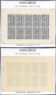 Congo Belge - Feuillet De 10 ** MNH : Carnet 2e Tirage (second état) Type N°67 B 25C Bleu, Panneau-δ D 14 / Moins Courra - Booklets