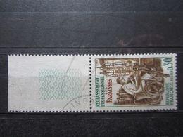 """VEND BEAU TIMBRE DE FRANCE N° 1405 + BDF , HAUT DU """" 3 """" EVIDE !!! - Variétés: 1960-69 Oblitérés"""