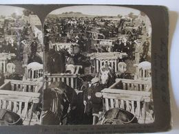 PHOTO STEREO  IRLANDE - Marché Foire Aux Cochons - 1908  - Ed. American Stereoscopic  BE - Stereoscopic