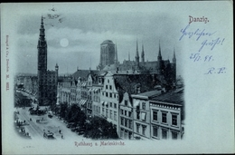 Clair De Lune Cp Gdańsk Danzig, Rathaus, Marienkirche - Danzig