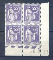 TIMBRES FRANCE REF230620...TIMBRES N° 363 COIN DATE (1937), Neuf - Dated Corners