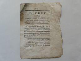 VIEUX PAPIERS - DECRET DE LA CONVENTION NATIONALE : Complots Contre-révolutionnaires - Directoire De L'ORNE - 1793 - Gesetze & Erlasse