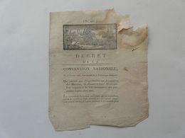VIEUX PAPIERS - DECRET DE LA CONVENTION NATIONALE N° 491 : Liste Nominative - Directoire De L'ORNE - 1793 - Gesetze & Erlasse
