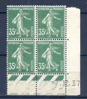 TIMBRES FRANCE REF230620...TIMBRES N° 361 COIN DATE (1937), Neuf - Dated Corners