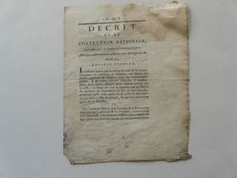 VIEUX PAPIERS - DECRET DE LA CONVENTION NATIONALE N° 589 : Certificats De Résidence - Directoire De L'ORNE - 1793 - Gesetze & Erlasse