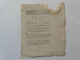 VIEUX PAPIERS - DECRET DE LA CONVENTION NATIONALE N° 421 : Titres De Propriété - Directoire De L'ORNE - 1793 - Gesetze & Erlasse