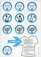 Tuberculose Antituberculeux - Campagne 2008-2009 Plaquette La Pollution De L'air Est Partout - Erinnophilie