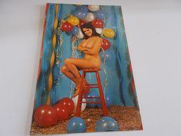 B768  Nudo Di Donna Cm13,5x8,5 Residui Colla Sul Davanti - Fine Nudes (adults < 1960)