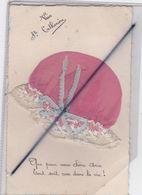 Vive Sainte Catherine - Carte Avec Ajouts, Bonnet.Que Pour Vous Chère Amie Tout Soit Rose Dans La Vie ! - Sainte-Catherine