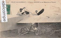 VELIZY-VILLACOUBLAY : Aviation,le Docteur ESPANET Et Son Mécanicien Sur Nieuport. Collect Drouard-Gallot. - Velizy