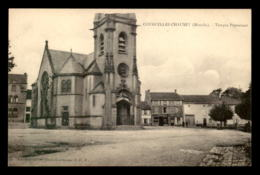 57 - COURCELLES-CHAUSSY - LE TEMPLE PROTESTANT - MAGASIN P. SCHOCK - Frankreich