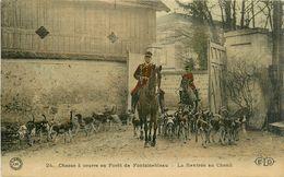 77 CHASSE A COURRE EN FORET DE FONTAINEBLEAU - La Rentrée Au Chenil - Fontainebleau