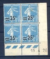 TIMBRES FRANCE REF230620...TIMBRES N° 217 COIN DATE (1926), Charnière - Dated Corners