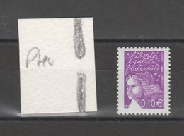FRANCE / 2002 / Y&T N° 3446 AVEC PHO ** : Luquet 0.10 € De Feuille Gommée (variété 2 Demi-bandes PHO) X 1 - Errors & Oddities