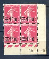 TIMBRES FRANCE REF230620...TIMBRES N° 226 COIN DATE (1926), Neuf - Dated Corners