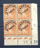 TIMBRES FRANCE REF230620...TIMBRES PREOBLITERES N° 57 COIN DATE (1929), Neuf - Preobliterados