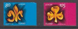 Europa Cept 2007 Iceland 2v  From Booklet (self Adhesive) ** Mnh (48169) - Europa-CEPT