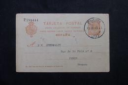 ESPAGNE - Entier Postal  De Coruna Pour La France En 1913 - L 63985 - Enteros Postales