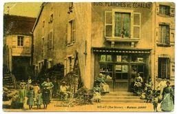 MELAY  Maison Janny, Bois, Planches Et échalas,  Couleur, Rare, Cachets US Au Dos - Autres Communes