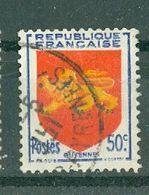 FRANCE - N° 835 Oblitéré - Armoiries De Provinces (IV). Guyenne. - 1941-66 Escudos Y Blasones