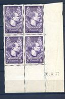 TIMBRES FRANCE REF230620...TIMBRES N° 338 COIN DATE (1937), Neuf - Dated Corners