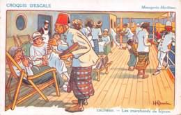 Colombo - Croquis D'escale - Messageries Maritimes - Les Marchands De Bijoux - Sri Lanka (Ceylon)
