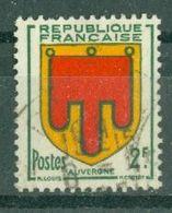 FRANCE - N° 837 Oblitéré - Armoiries De Provinces (IV). Auvergne. - 1941-66 Escudos Y Blasones