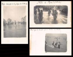 OOSTENDE (W. Vl.) Het Strand - Zwemmers - 3 Fotokaarten - Oostende